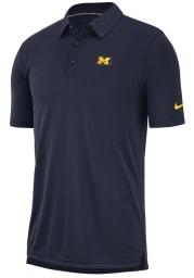 Nike Michigan Wolverines Mens Navy Blue Col M NK Polo Short Sleeve Polo
