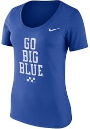 Nike Kentucky Wildcats Womens Blue Local Scoop T-Shirt