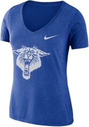 Nike Kentucky Wildcats Womens Blue Vault V-Neck T-Shirt