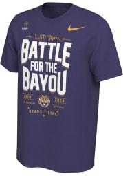 Nike LSU Tigers Purple 2019 College Football Playoff Bound Short Sleeve T Shirt