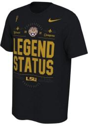 Nike LSU Tigers Black 2019 National Champions Short Sleeve T Shirt