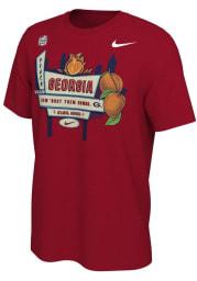 Nike Georgia Bulldogs Red 2020 Peach Bowl Bound Short Sleeve T Shirt