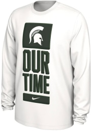 Nike Michigan State Spartans White Bench Legend Long Sleeve T-Shirt
