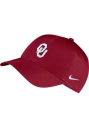 Nike Oklahoma Sooners Dri-Fit L91 Adjustable Hat - Crimson