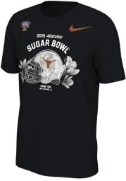 Nike Texas Longhorns Black 2018 Sugar Bowl bound Short Sleeve T Shirt