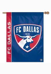 FC Dallas 27x37 Red, Blue Silk Screen Sleeve Banner
