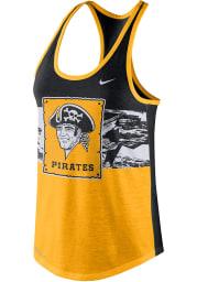 Nike Pittsburgh Pirates Womens Gold Dri-Blend Cooperstown Tank Top