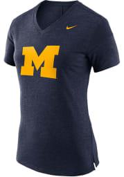 Nike Michigan Wolverines Womens Navy Blue Fan T-Shirt