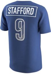 Matthew Stafford Detroit Lions Blue Prism Name Number Short Sleeve Player T Shirt