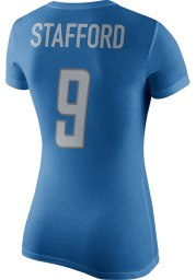 Matthew Stafford Detroit Lions Womens Blue Name and Number Player T-Shirt