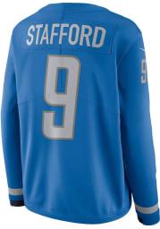 Matthew Stafford Nike Detroit Lions Womens Blue Therma Football Jersey