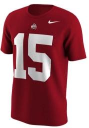 Ezekiel Elliott # Ohio State Buckeyes Red Nike Retro Short Sleeve T Shirt