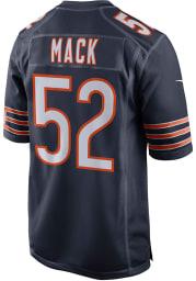 Khalil Mack Nike Chicago Bears Navy Blue 100th Anniversary Football Jersey