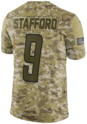Matthew Stafford Nike Detroit Lions Mens Olive Salute to Service Limited Football Jersey