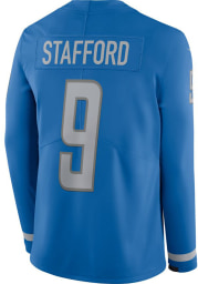 Matthew Stafford Nike Detroit Lions Mens Light Blue Therma Limited Football Jersey