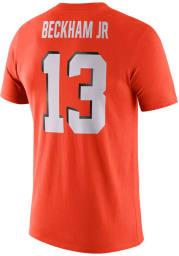 Odell Beckham Jr Cleveland Browns Orange Player Pride Short Sleeve Player T Shirt