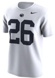 Saquon Barkley Penn State Nittany Lions White Retro Short Sleeve Player T Shirt