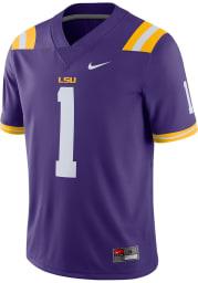 Nike LSU Tigers Purple Game Road #1 Football Jersey