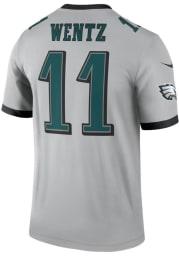 Carson Wentz Nike Philadelphia Eagles Grey Inverted Legend Football Jersey