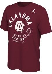 Nike Oklahoma Sooners Crimson Game Of The Century Short Sleeve T Shirt