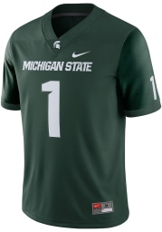 Nike Michigan State Spartans Green Home Game Football Jersey