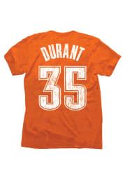 Kevin Durant Oklahoma City Thunder Orange Tri-Blend Short Sleeve Player T Shirt