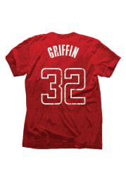 Blake Griffin Los Angeles Clippers Crimson Tri-Blend Short Sleeve Player T Shirt