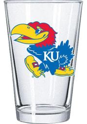 Kansas Jayhawks 16oz Primary Logo Pint Glass