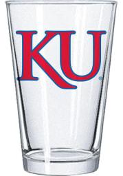 Kansas Jayhawks 16oz Letters Logo Pint Glass