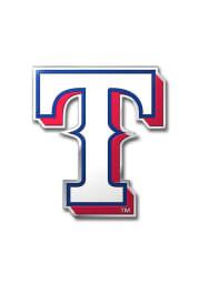 Sports Licensing Solutions Texas Rangers Aluminum Car Emblem - White