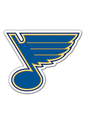 St Louis Blues 12 Inch Logo Car Magnet - Blue