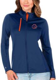Antigua Boise State Broncos Womens Blue Generation Light Weight Jacket