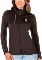 Antigua Wyoming Cowboys Womens Brown Generation Light Weight Jacket