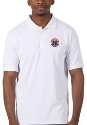 Antigua Washington Wizards Mens White Legacy Pique Short Sleeve Polo