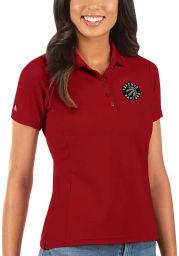Antigua Toronto Raptors Womens Red Legacy Pique Short Sleeve Polo Shirt