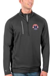 Antigua Washington Wizards Mens Grey Generation Long Sleeve 1/4 Zip Pullover