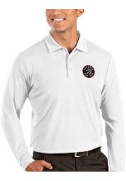 Antigua Toronto Raptors Mens White Tribute Long Sleeve Polo Shirt
