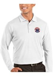 Antigua Washington Wizards Mens White Tribute Long Sleeve Polo Shirt