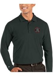 Antigua Toronto Raptors Mens Grey Tribute Long Sleeve Polo Shirt