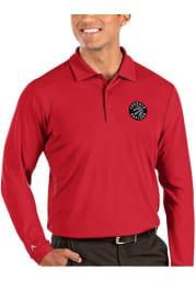 Antigua Toronto Raptors Mens Red Tribute Long Sleeve Polo Shirt