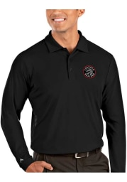 Antigua Toronto Raptors Mens Black Tribute Long Sleeve Polo Shirt