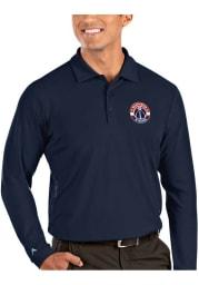 Antigua Washington Wizards Mens Navy Blue Tribute Long Sleeve Polo Shirt