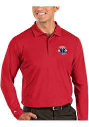 Antigua Washington Wizards Mens Red Tribute Long Sleeve Polo Shirt