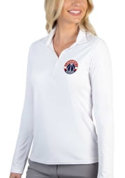 Antigua Washington Wizards Womens White Tribute Long Sleeve Polo Shirt