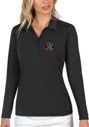 Antigua Toronto Raptors Womens Black Tribute Long Sleeve Polo Shirt