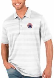 Antigua Washington Wizards Mens White Compass Short Sleeve Polo