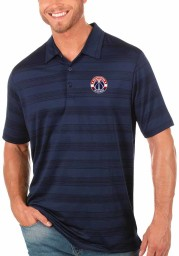 Antigua Washington Wizards Mens Navy Blue Compass Short Sleeve Polo