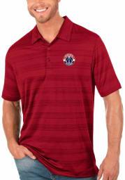 Antigua Washington Wizards Mens Red Compass Short Sleeve Polo