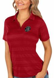 Antigua Toronto Raptors Womens Red Compass Short Sleeve Polo Shirt