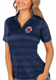 Antigua Washington Wizards Womens Navy Blue Compass Short Sleeve Polo Shirt